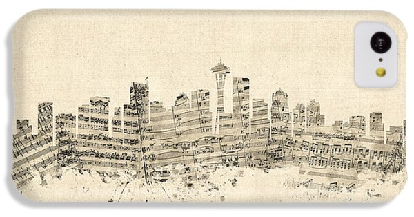 Seattle Washington Skyline Sheet Music Cityscape IPhone 5c Case