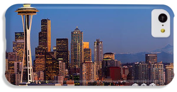 Seattle Winter Evening Panorama IPhone 5c Case by Inge Johnsson