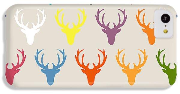 Seaview Simple Deer Heads IPhone 5c Case by Sharon Turner