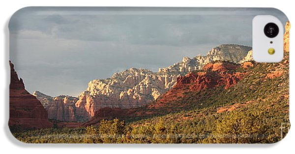 Desert iPhone 5c Case - Sedona Sunshine Panorama by Carol Groenen
