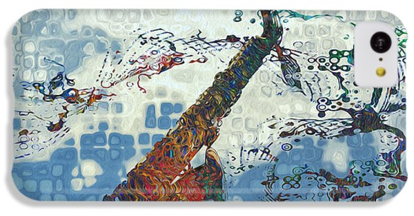 Saxophone iPhone 5c Case - See The Sound 2 by Jack Zulli