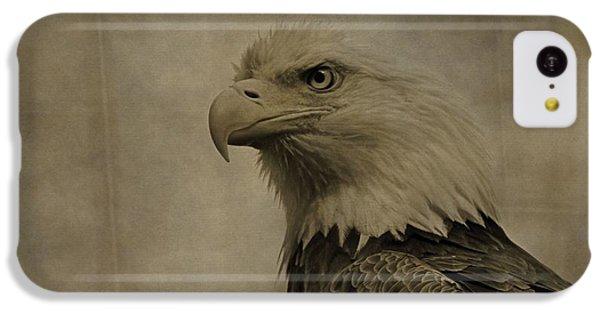 Sepia Bald Eagle Portrait IPhone 5c Case by Dan Sproul