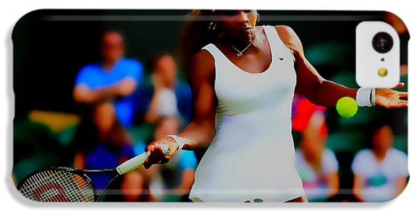 Serena Williams Making It Look Easy IPhone 5c Case by Brian Reaves
