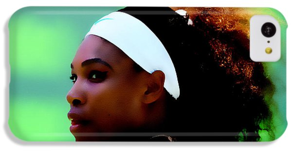 Serena Williams Match Point IPhone 5c Case by Brian Reaves