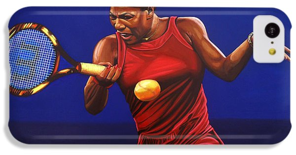Serena Williams Painting IPhone 5c Case by Paul Meijering