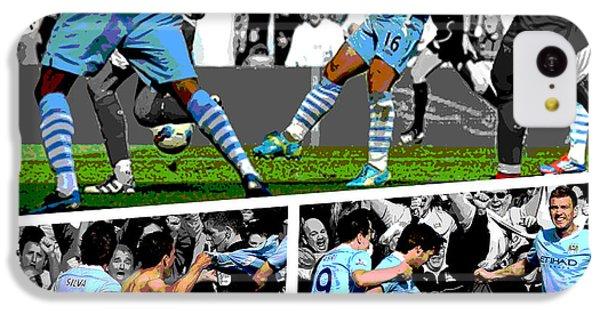 Sport iPhone 5c Case - Sergio Aguero Goal Vs Qpr by Pro Prints