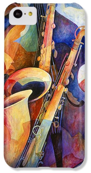 Musical iPhone 5c Case - Sexy Sax by Susanne Clark