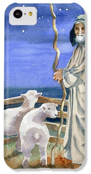 Sheep iPhone 5c Case - Shepherds Watched Their Flocks By Night by Marsha Elliott