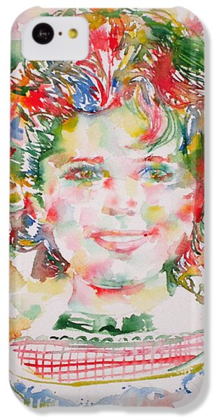 Shirley Temple iPhone 5c Case - Shirley Temple - Watercolor Portrait.1 by Fabrizio Cassetta