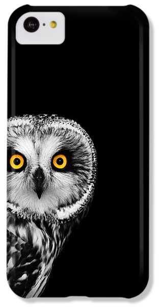 Short-eared Owl IPhone 5c Case by Mark Rogan