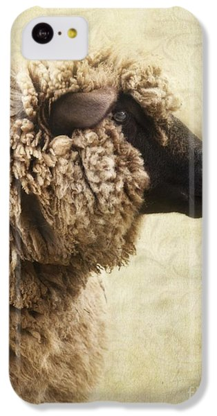 Sheep iPhone 5c Case - Side Face Of A Sheep by Priska Wettstein