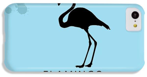 Sound iPhone 5c Case - Silhouette Flamingo In The Retro Style by Kurt Natalia