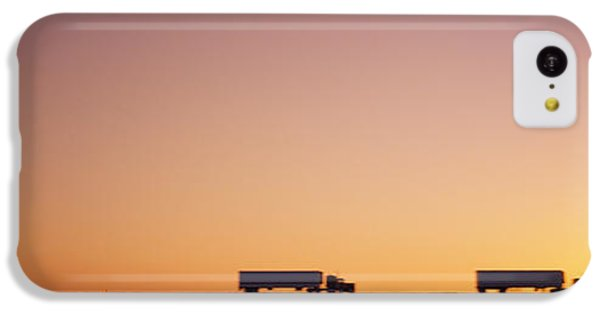 Silhouette Of Two Trucks Moving IPhone 5c Case