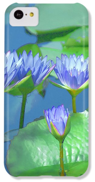 iPhone 5c Case - Silken Lilies by Holly Kempe