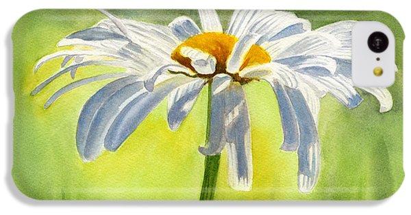 Daisy iPhone 5c Case - Single White Daisy Blossom by Sharon Freeman