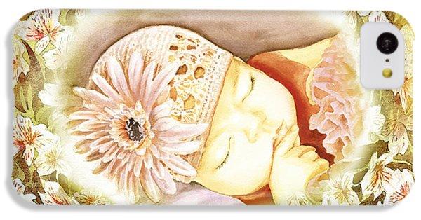 IPhone 5c Case featuring the painting Sleeping Baby Vintage Dreams by Irina Sztukowski