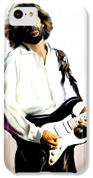 Eric Clapton iPhone 5c Case - Slow Hand  Eric Clapton by Iconic Images Art Gallery David Pucciarelli