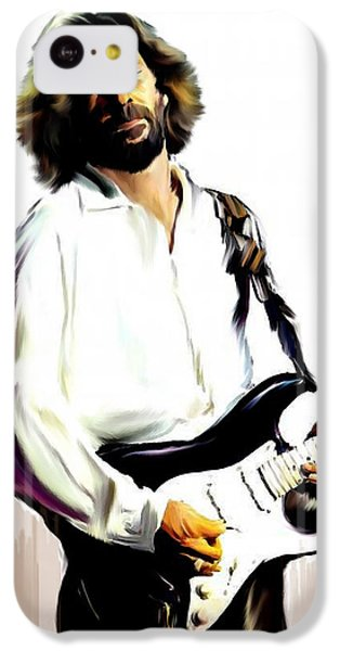 Slow Hand  Eric Clapton IPhone 5c Case by Iconic Images Art Gallery David Pucciarelli