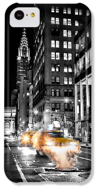 London Tube iPhone 5c Case - Smoking Streets Of New York  by Az Jackson