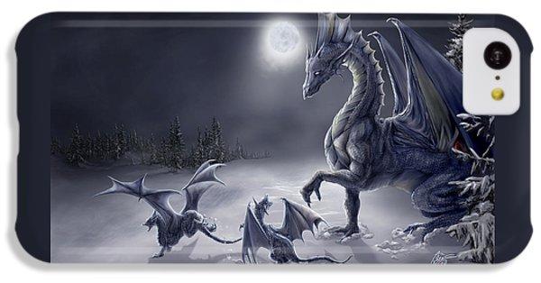 Dragon iPhone 5c Case - Snow Day by Rob Carlos