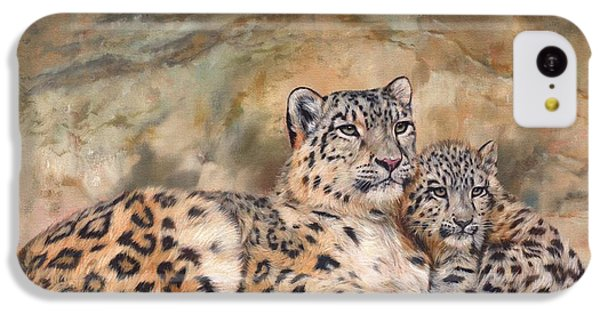 Snow Leopards IPhone 5c Case by David Stribbling