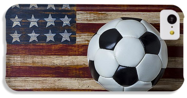Soccer Ball And Stars And Stripes IPhone 5c Case
