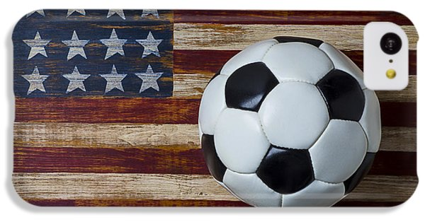 Soccer Ball And Stars And Stripes IPhone 5c Case by Garry Gay