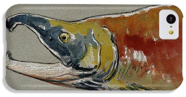 Salmon iPhone 5c Case - Sockeye Salmon Head Study by Juan  Bosco