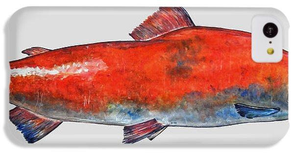 Salmon iPhone 5c Case - Sockeye Salmon by Juan  Bosco
