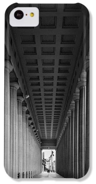 Soldier Field Colonnade Chicago B W B W IPhone 5c Case by Steve Gadomski