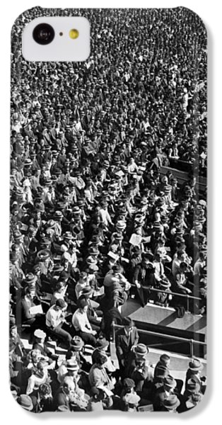 Baseball Fans At Yankee Stadium In New York   IPhone 5c Case by Underwood Archives