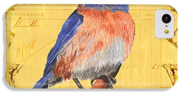 Bluebird iPhone 5c Case - Colorful Songbirds 1 by Debbie DeWitt