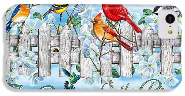 Bluebird iPhone 5c Case - Songbirds Fence by JQ Licensing