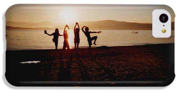 Beach Sunset iPhone 5c Case - Sonnentanz by Juan  Bosco