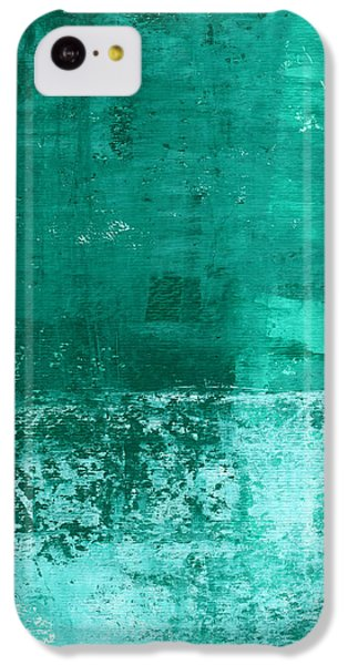 Soothing Sea - Abstract Painting IPhone 5c Case by Linda Woods