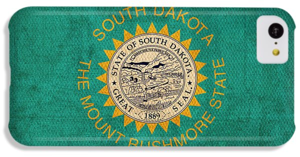South Dakota State Flag Art On Worn Canvas IPhone 5c Case by Design Turnpike
