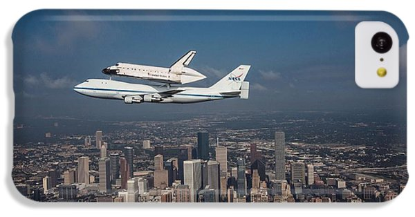 Space Shuttle Endeavour Over Houston Texas IPhone 5c Case