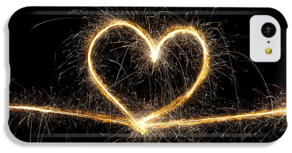 Valentines Day iPhone 5c Case - Spark Of Love by Tim Gainey