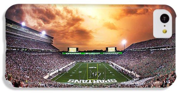 Michigan State iPhone 5c Case - Spartan Stadium by Rey Del Rio