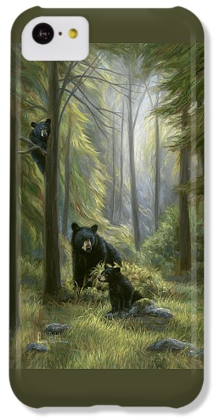 Bear iPhone 5c Case - Spirits Of The Forest by Lucie Bilodeau