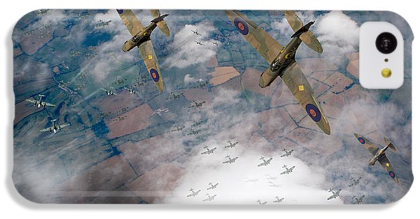 Raf Spitfires Swoop On Heinkels In Battle Of Britain IPhone 5c Case by Gary Eason