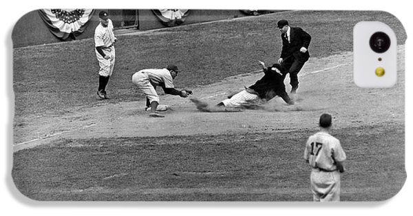 Spud Chandler Is Out At Third In The Second Game Of The 1941 Wor IPhone 5c Case by Underwood Archives