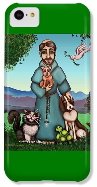 St. Francis Libertys Blessing IPhone 5c Case by Victoria De Almeida