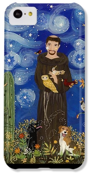 Woodpecker iPhone 5c Case - St. Francis Starry Night by Sue Betanzos