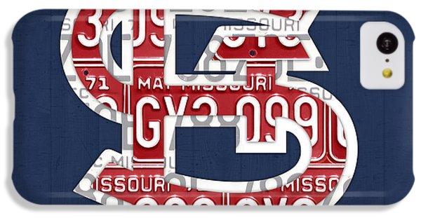 St. Louis Cardinals Baseball Vintage Logo License Plate Art IPhone 5c Case