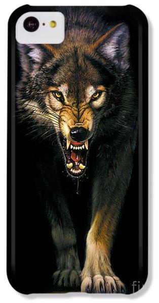 Portraits iPhone 5c Case - Stalking Wolf by MGL Studio - Chris Hiett