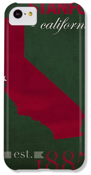 Stanford University Cardinal Stanford California College Town State Map Poster Series No 100 IPhone 5c Case by Design Turnpike