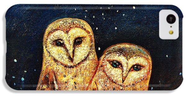 Starlight Owls IPhone 5c Case by Shijun Munns
