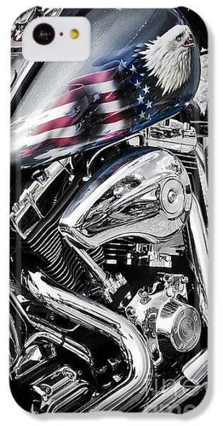 Stars And Stripes Harley  IPhone 5c Case