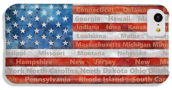 Stars And Stripes With States IPhone 5c Case